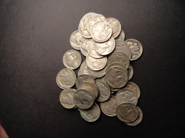 Lot of 44 Buffalo Nickels 1930s & 1920s US COINS