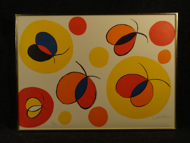 Alexander Calder -Nostalgie de l'envol- Original Lithograph Hand Signed and Numbered COA