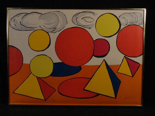 Alexander Calder -Le Piege- Original Lithograph Hand Signed and Numbered COA