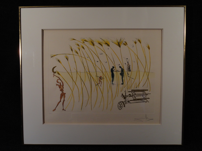 Salvador Dali -Invention of the Reaper- Original Etching Hand Signed and Numbered COA