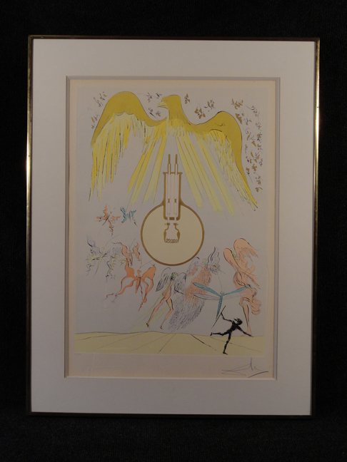 Salvador Dali -Invention of the Lightbulb- Original Etching Hand Signed and Numbered COA