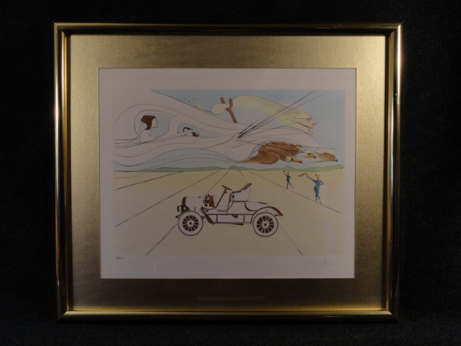 Salvador Dali -Invention of the Automobile- Original Etching Hand Signed and Numbered with COA