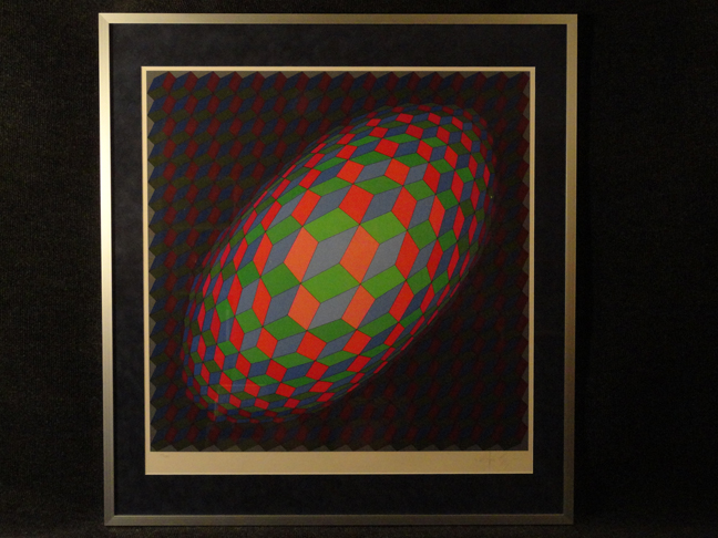 Victor Vasarely Hand Signed and Numbered Original Serigraph