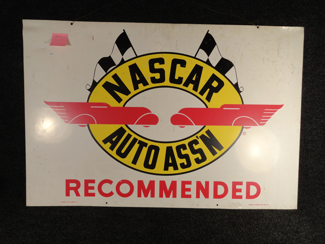 Vintage Nascar Metal Sign Original c1962 Auto Assn Association Streamliner Dragster Racing History from Santa Cruz CA