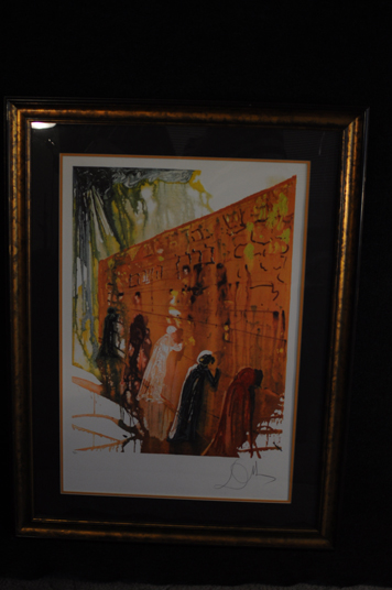 Salvador Dali Wailing Wall Signed and Numbered Lithograph 1975  76 of 250