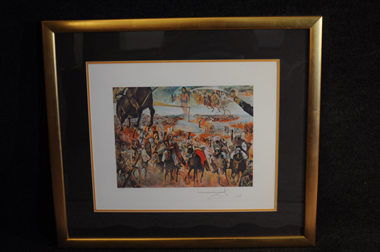 Salvador Dali Battle of Tetuan Lithograph w/ COA 104 of 350