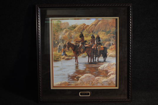 Howard Terpning Soldier Hat signed and numbered lithograph 1993 COA