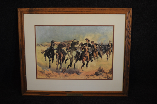 Frederic Remington Dismounted The Fourth Cavalry Moving 1927 print expertly framed