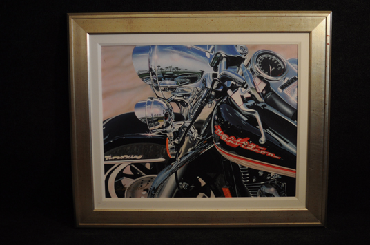 Scott Jacobs Road King Lithograph hand signed and numbered Harley Davidson Motorcycle