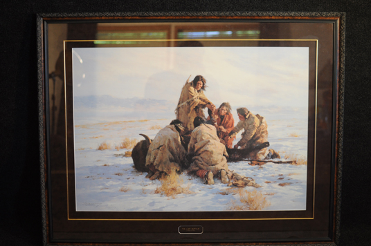 Howard Terpning The Last Buffalo signed and numbered lithograph 1986 Western Art