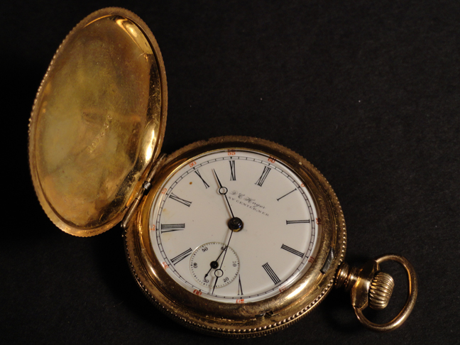 c1900s Gold Filled Hunting Case Pocket Watch DC Hager