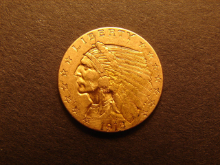 Gold Coin 1915 Genuine Indian Head 1/4 Eagle US COINS