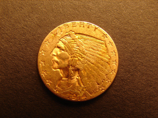 Gold Coin 1914 D Genuine Indian Head 1/4 Eagle US COINS