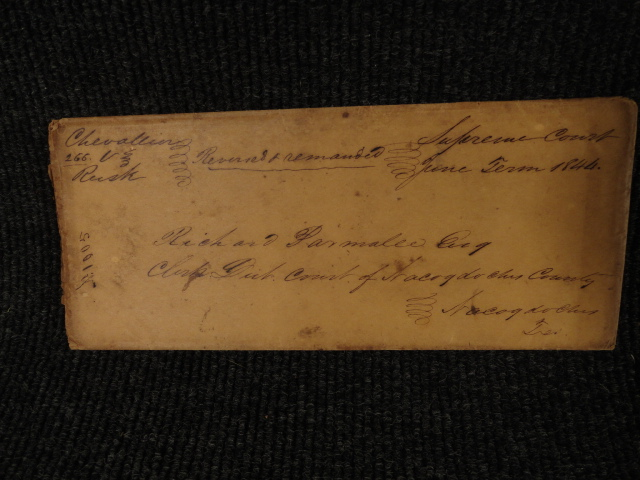 1844 Stampless Cover Republic of Texas Supreme Court to Nacogdoches