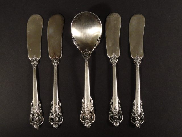 "5 Piece Sterling Silver ""Grand Baroque"" Wallace 174 Grams"