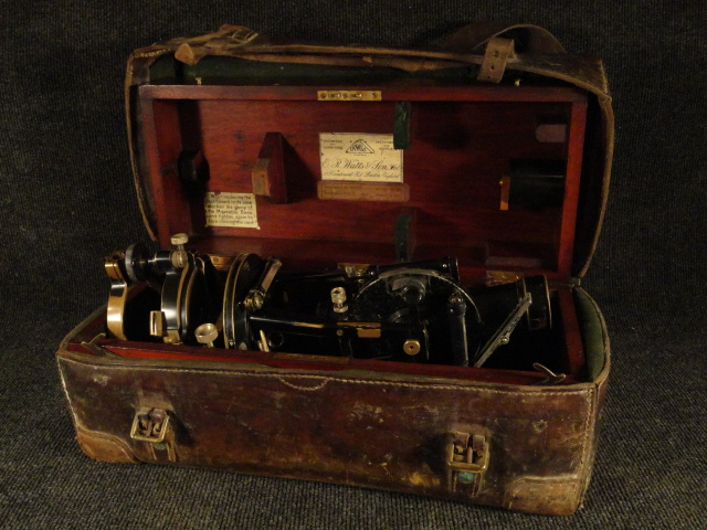 Fantastic Antique ER Watts & Son Theodolite Surveying Instrument in Original Box