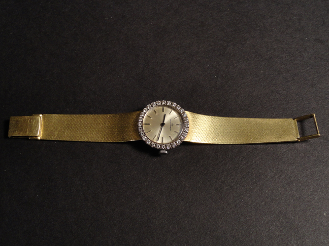 Elegant 18k Solid Gold & Diamond Ladies Wrist Watch Bucherer  aprox. 1 ct TW 44.1 Grams Total