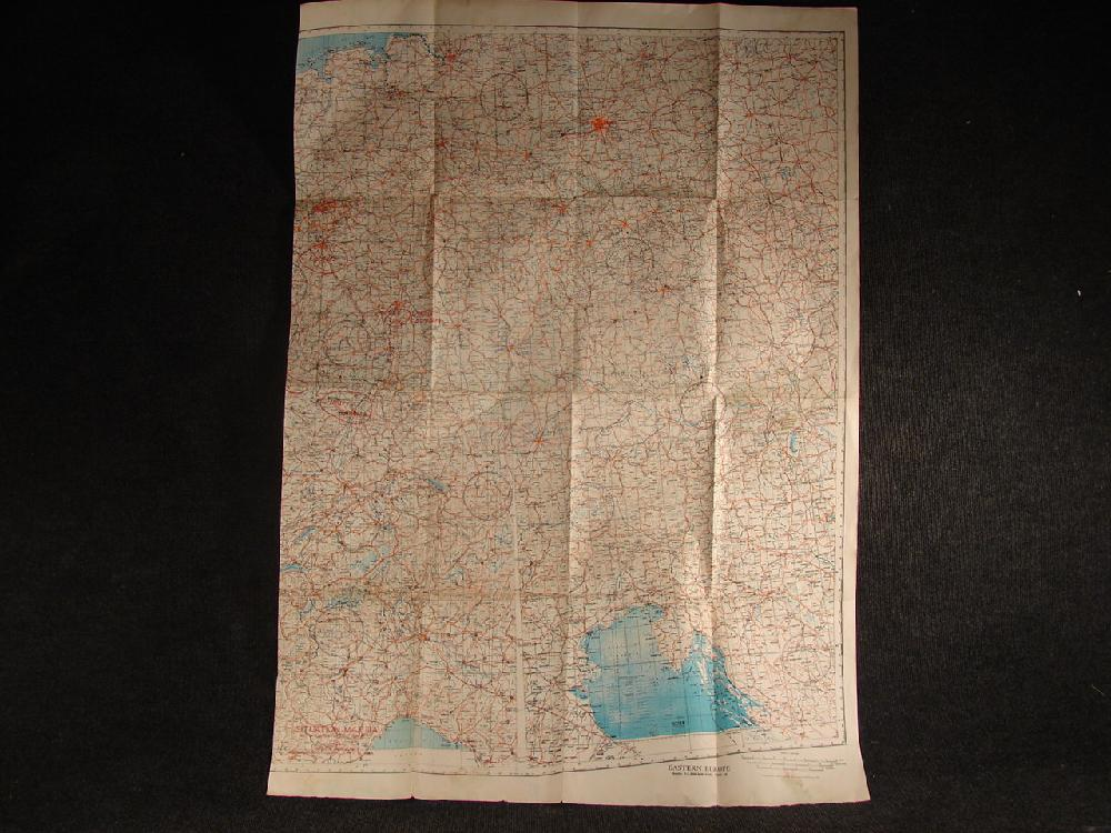 1944 WWII Eastern Europe Military Reconnaissance Map, Bomber and Fighter