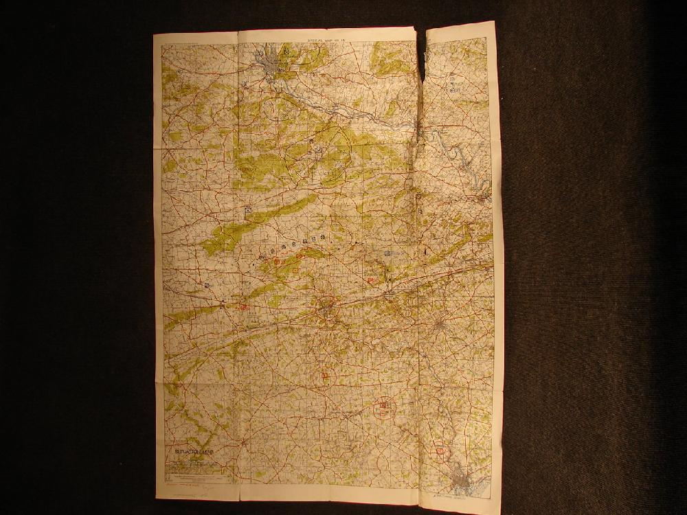 WWII Situation Map overprinted Positions. Pennsylvania Command and General School.