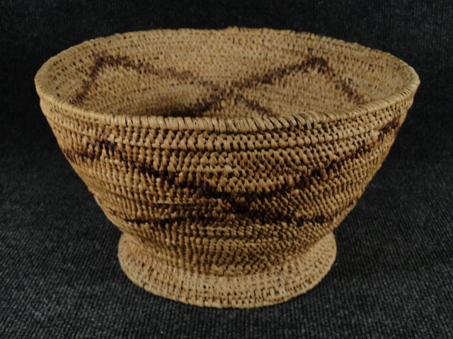 Native American Hand Woven Basket from Ute or Paiute Indians