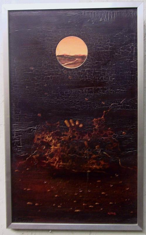 Asada Hiroshi (1931 - 1997) - Roche rouge,