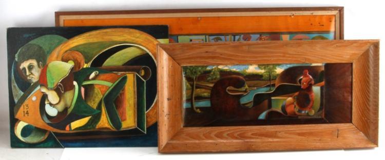 JOE FUGATE MODERN SURREAL MID CENTURY ART LOT