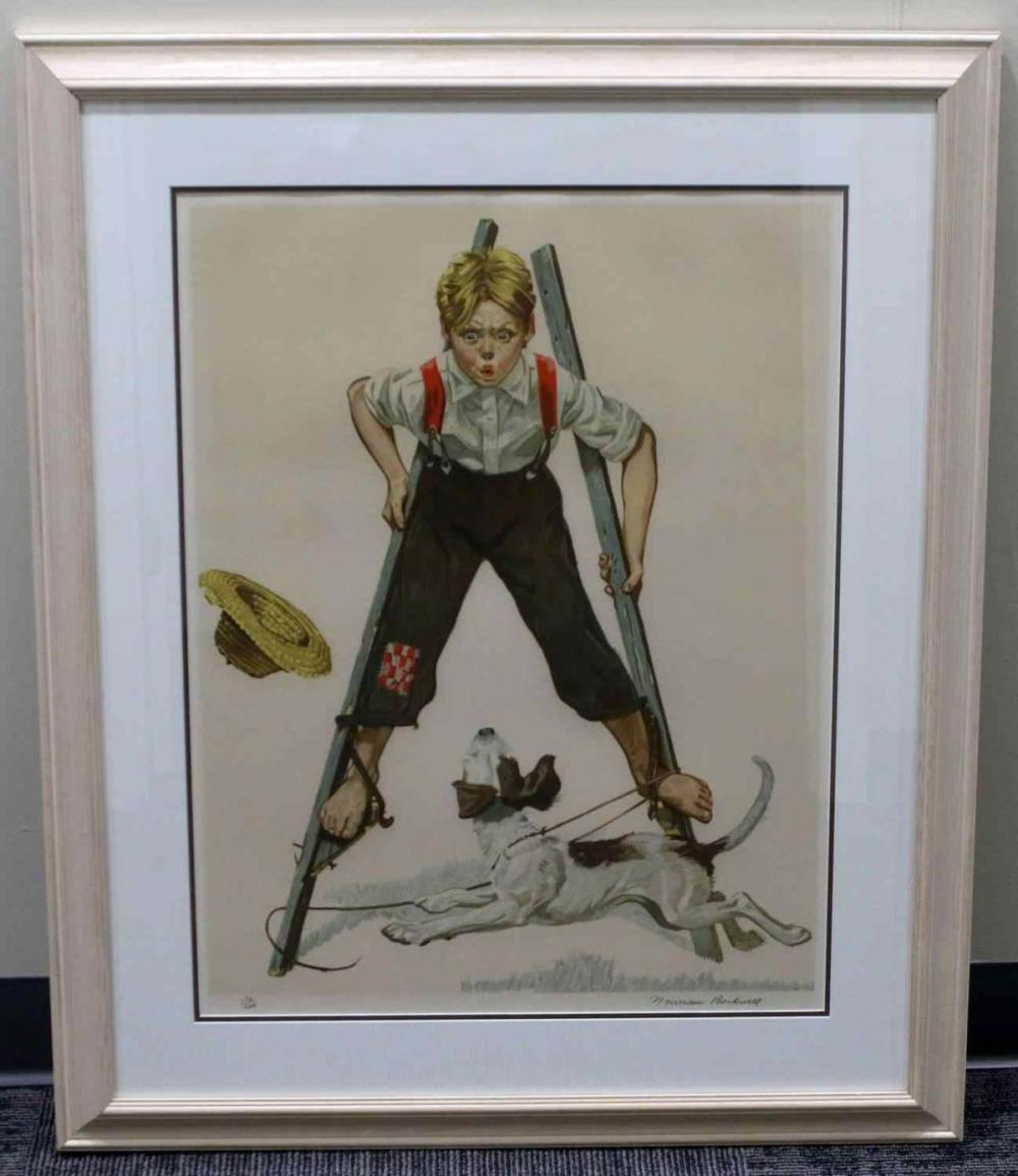 LIMITED EDITION PENCIL SIGNED NORMAN ROCKWELL