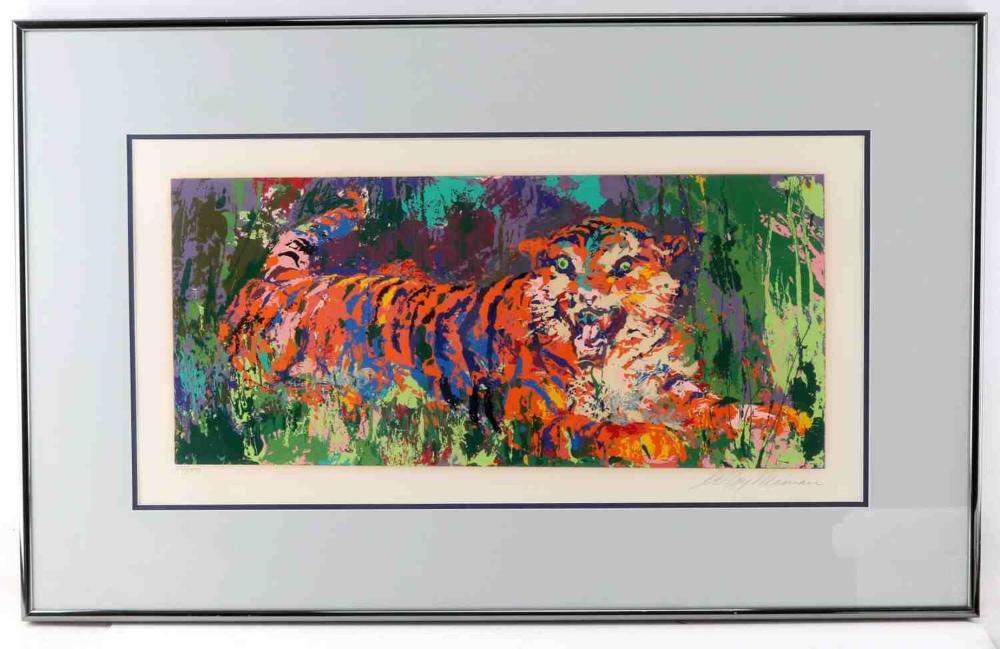 PENCIL SIGNED LEROY NIEMAN SERIGRAPH OF TIGER