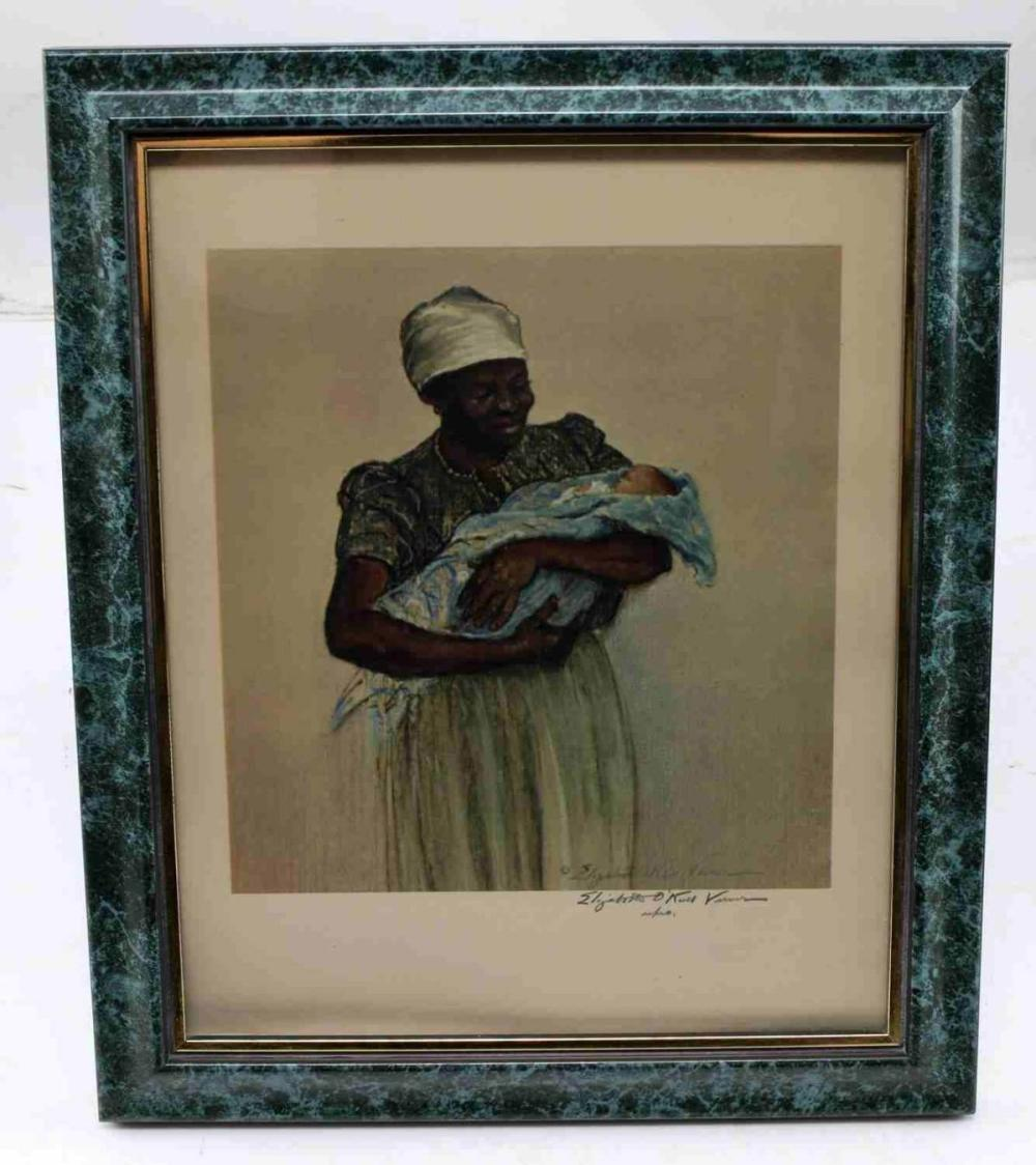ELIZABETH ONEILL VERNER LITHOGRAPH PENCIL SIGNED