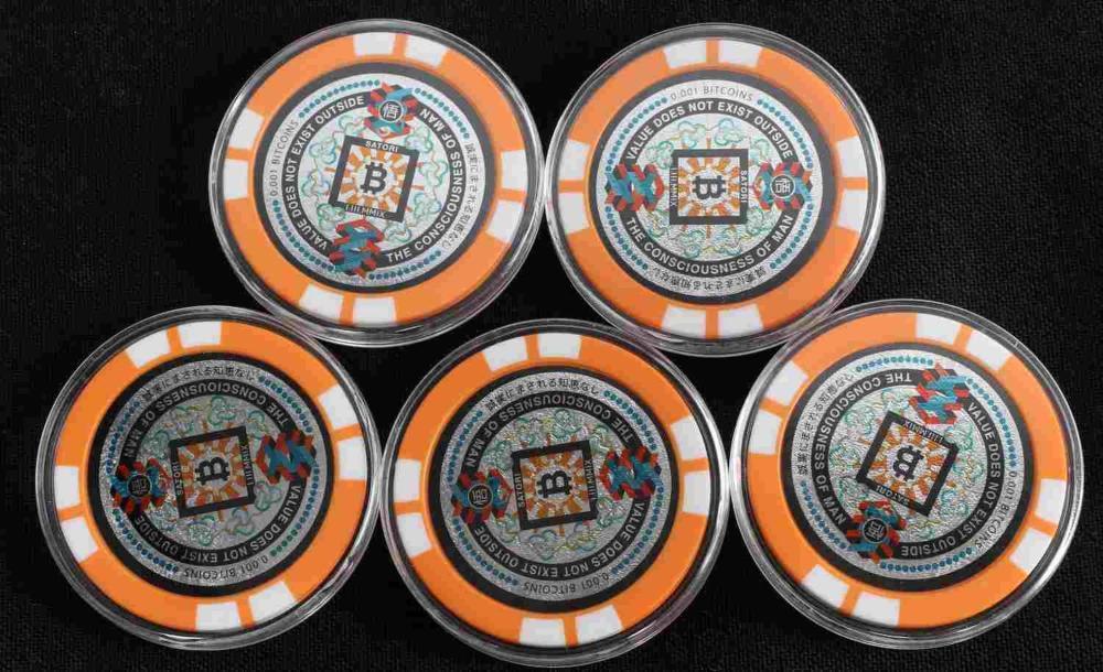 JAPAN SATORI COIN BITCOIN POKER CHIP 0.001 LOT