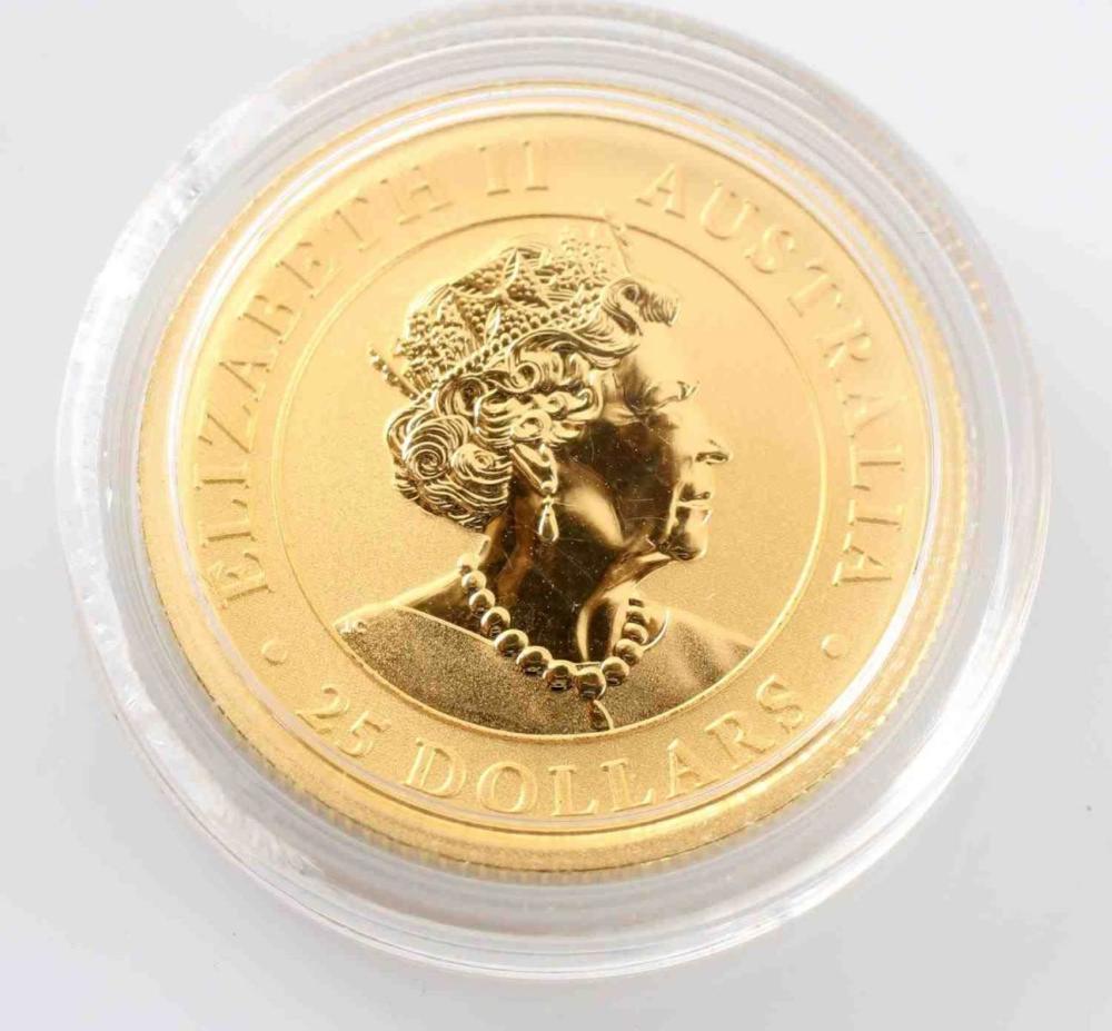 2019 GOLD 1/4 OZ AUSTRALIA KANGAROO PROOF COIN