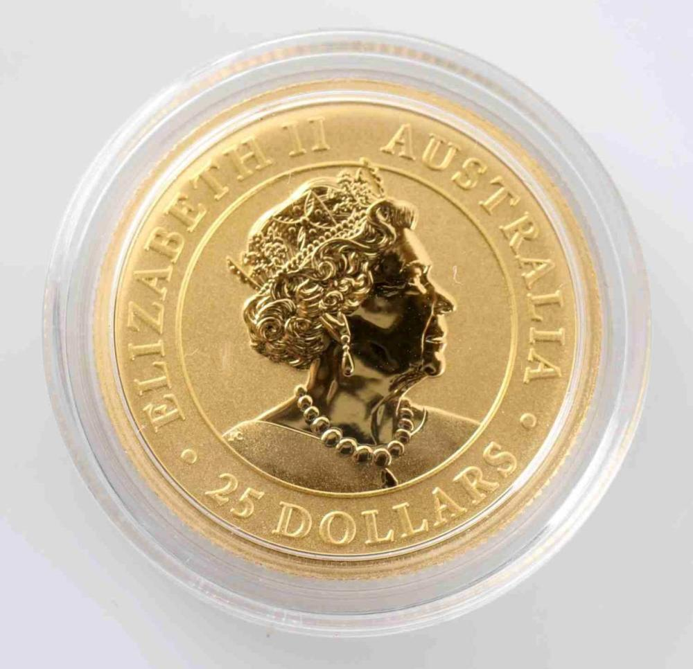 2019 1/4 OZ GOLD AUSTRALIA KANGAROO PROOF COIN