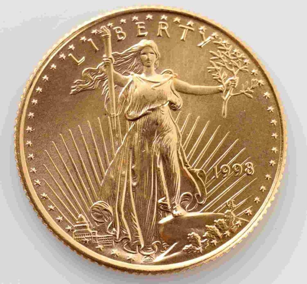 1998 GOLD 1/4 OZ AMERICAN EAGLE BU COIN