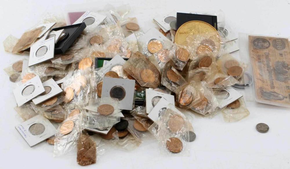 7.5 POUNDS OF WORLD COINS & NUMISMATICS