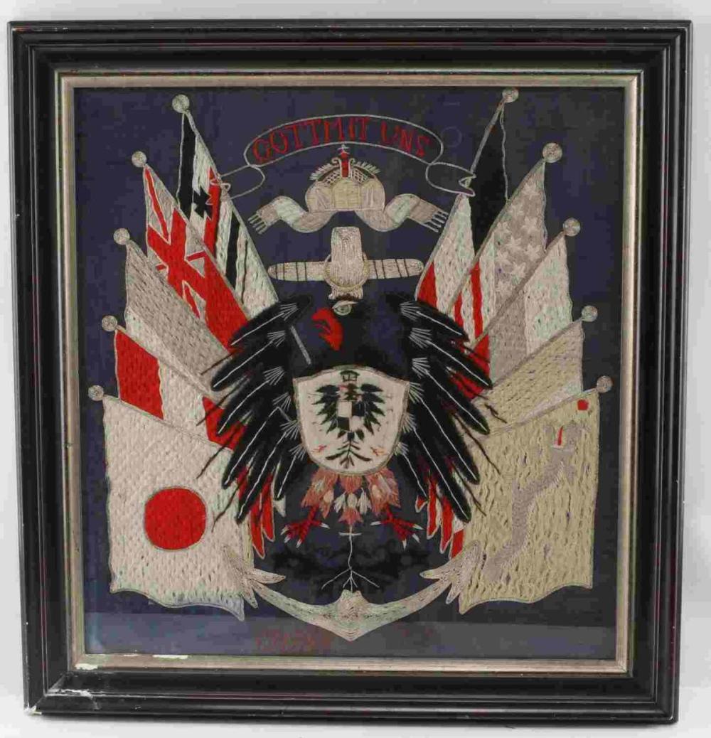 1901 BOXER REBELLION 8 NATION ALLIANCE EMBROIDERY