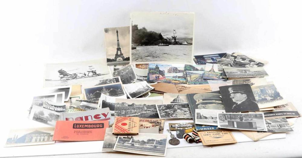 WWII 4TH ARMOR DIV VETERAN EPHEMERA  AND PHOTO LOT