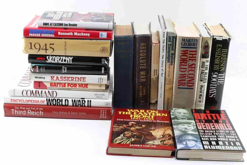 19 WWII TO VIETNAM MILITARY BOOK LOT SOME SCARCE