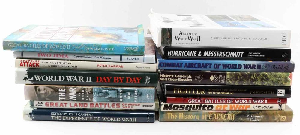 15 MILITARY TOPIC BOOK WWI WWII BATTLES GERMAN US