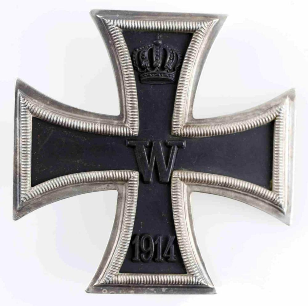 WWI IMPERIAL GERMAN SILVER FIRST CLASS IRON CROSS