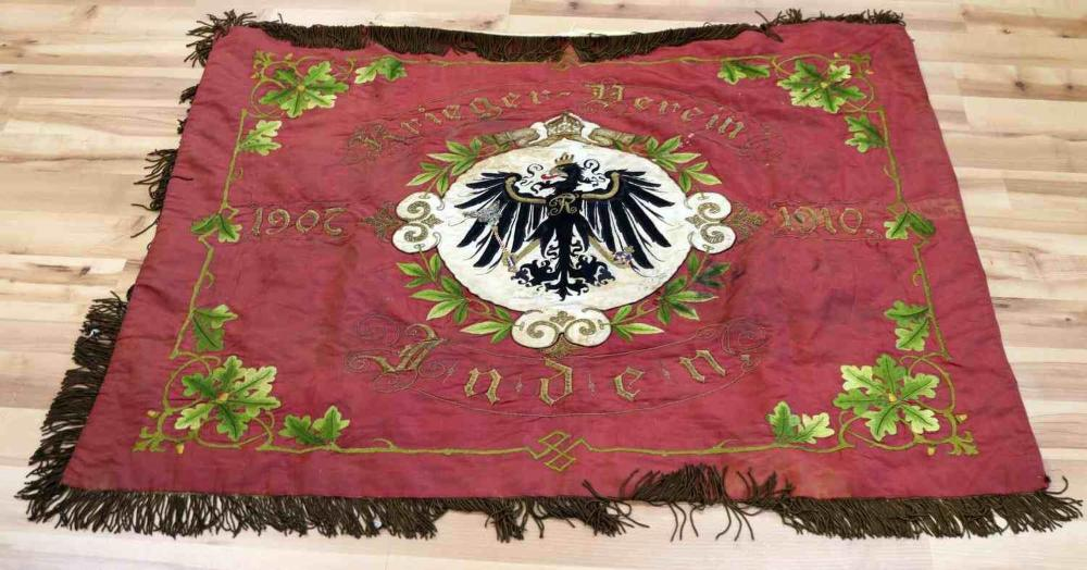 LARGE SILK IMPERIAL GERMAN 1907-1910 DATED BANNER