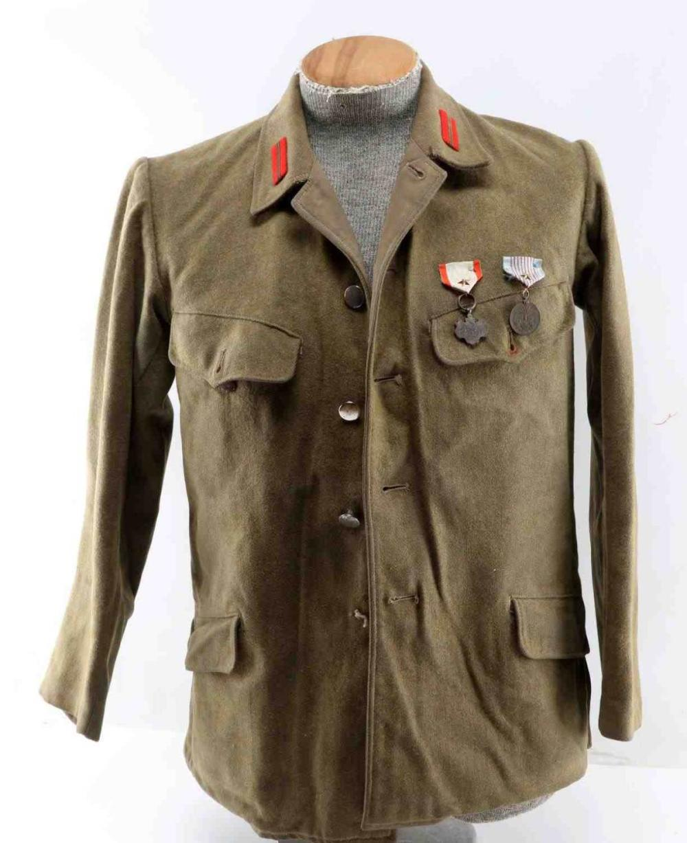 WWII JAPANESE IJA CORPORAL TUNIC W MEDALS