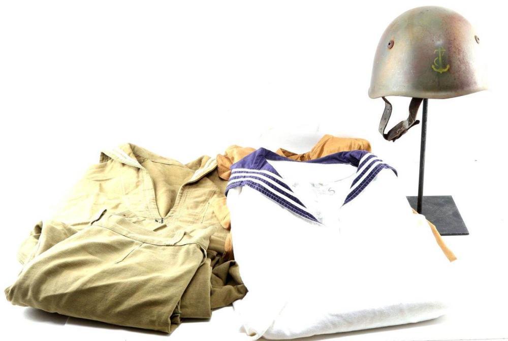 WWII ITALIAN NAVY UNIFORM W HELMET NSDAP EAST GERM