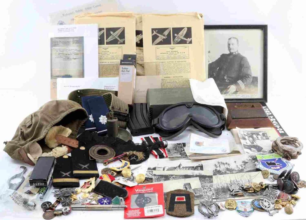 MULTI CONFLICT WWI WWII VIETNAM MILITARY MIXED LOT