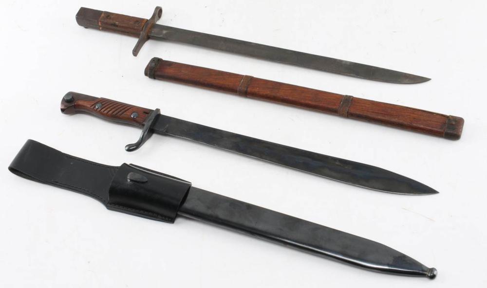 IMPERIAL JAPANESE ARISAKA RIFLE BAYONET LOT OF TWO