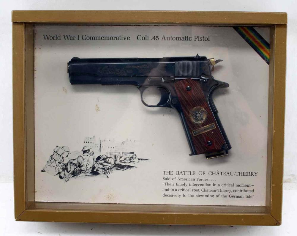 CASED COLT COMMEMORATIVE CHATEAU THIERRY 1911 .45