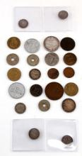 LATE 19TH CENTURY TO WWII ERA WORLD COINAGE
