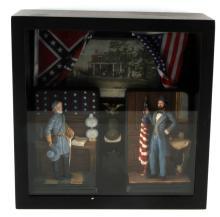 CIVIL WAR DIORAMA  DISPLAY GENERAL LEE & GRANT