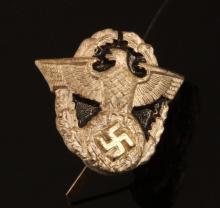 WWII GERMAN 3RD RIECH POLICE SWORD GRIP INSIGNIA