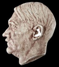WWII GERMAN ADOLF HITLER CHALK WARE PROFILE HEAD