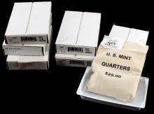 LOT OF 6 SEALED $25 US MINT STATE QUARTERS IN BAG